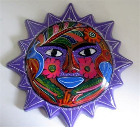 mexican clay sun face must haves pinterest