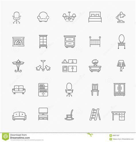 home decor icon furniture and home decor icon set vector illustration