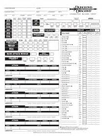 Dnd Templates by Blank Dnd Character Sheet Pg1 By Seraph Colak On Deviantart