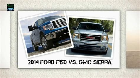 ford vs gmc side by side comparison 2014 ford f150 vs gmc