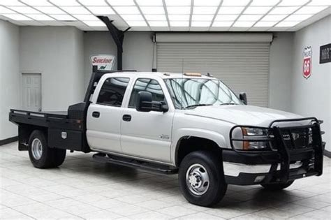 sell used 2006 chevy 3500 diesel 4x4 dually flat bed hauler lt3 heated leather bose texas in