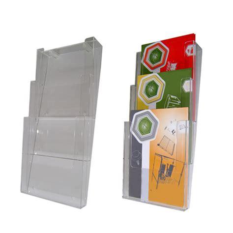 porta flyer porta flyer da muro in plexi 3 tasche a4