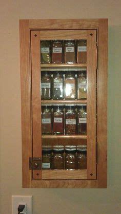 recessed cabinet  door spice cabinet redo kitchen