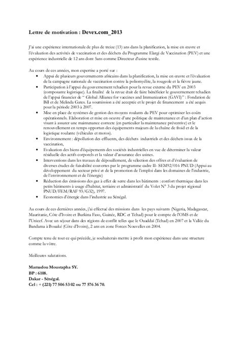 lettre de motivation humanitaire employment application