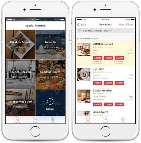 Open Table by Opentable Discover App Redesign Helps Travelers Locals