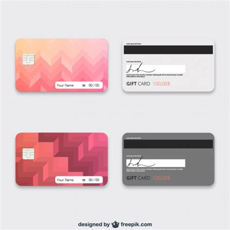 Gift Card Template Download - gift cards template vector free download
