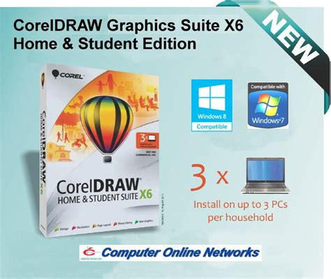Corel Draw X6 Home And Student Edition | coreldraw graphics suite x6 home and student corel draw