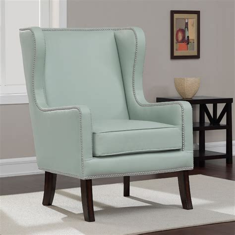 Aqua Accent Chair Oversized Aqua Bonded Leather Wing Chair Contemporary Armchairs And Accent Chairs By