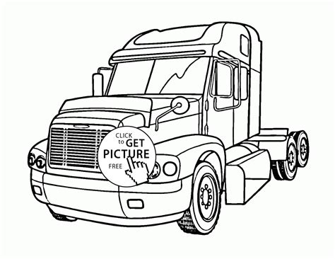 Semi Coloring Pages by Semi Truck Coloring Page For Transportation