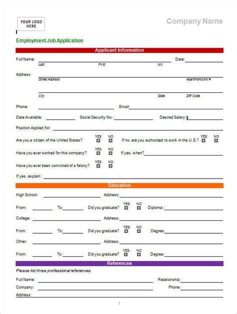 application excel template application form template free word pdf excel