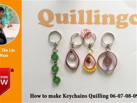 How To Make Paper Keychains - quilling bridgits quilling thuja 196 ste mit neue quilling