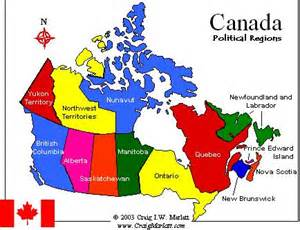 province of canada map map of canada regional city in the wolrd september 2011