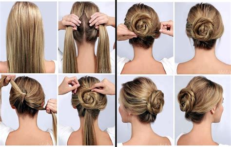 easy hairstyle how tos step by step tutorial on how to make a twisted bun