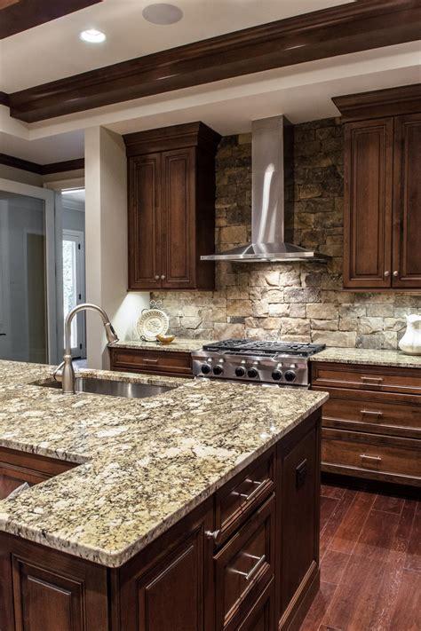 stone backsplash kitchen photos hgtv