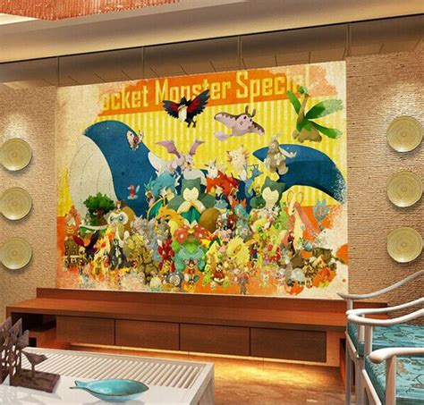 pokemon wallpaper  wall mural kids bedroom japanese