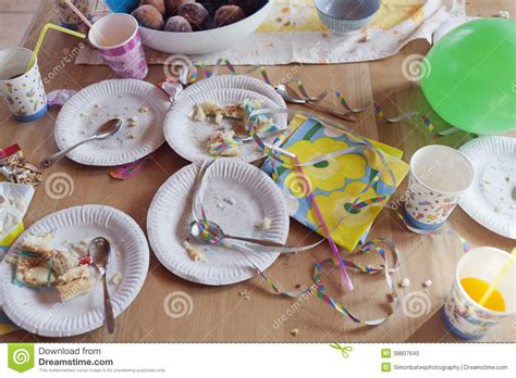 After Party Mess stock photo. Image of chaos, streamers