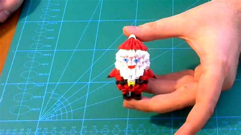 origami mini santa 3d origami small santa claus tutorial diy paper small santa claus