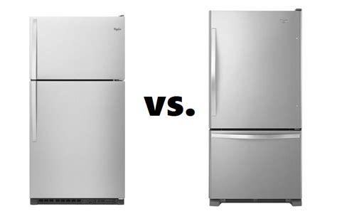 bottom drawer freezer vs side by side top freezer refrigerators vs bottom freezer refrigerators