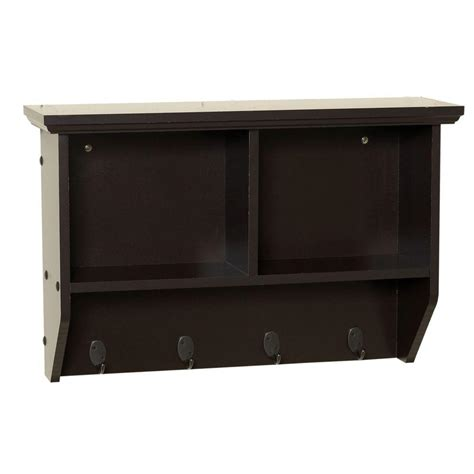 home depot wall shelving zenith collette 23 in w wall cubby shelf in espresso 9924cha the home depot