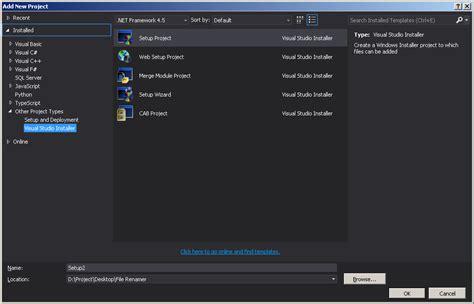 visual studio installer tutorial 2013 c visual studio 2013 create installer stack overflow