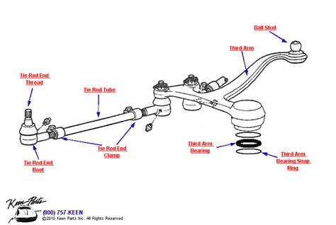 tie rod assembly diagram 1962 corvette steering assembly parts parts