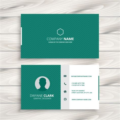 Green Business Card Template Vector by Green Business Card With Zigzag Pattern Vector Free