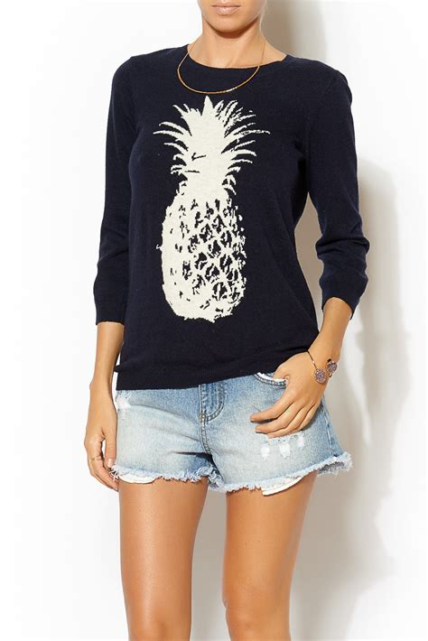 Sweater Pineapple 2 kersh pineapple sweater from massachusetts by sundance clothing shoptiques