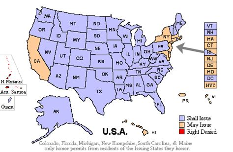 concealed carry usa map handgunlaw us