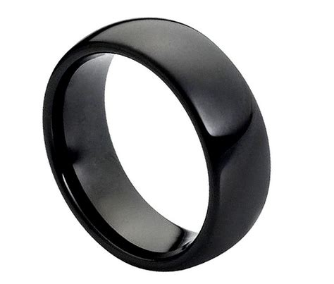Tungsten Wedding Bands Comfort Fit by Black Tungsten Carbide Wedding Band Ring Mens Jewelry