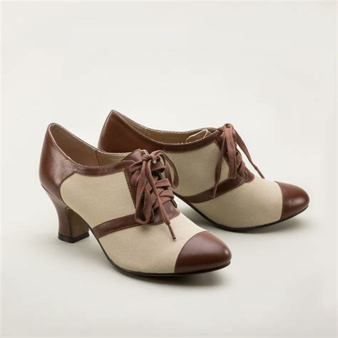 vintage oxford shoes retro oxfords in brown by royal vintage