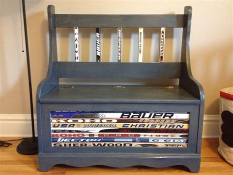 hockey benches scott s hockey bench creation looks awesome in evan s big