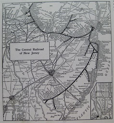 the central railroad of new jersey an illustrated guide book with road maps classic reprint books 1924 central railroad of new jersey map black and white