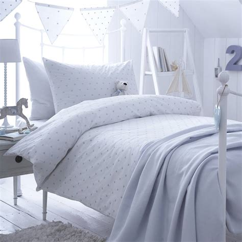 Blue Quilt Cover Dotty Blue Spot Cotton Bedding Collection By The