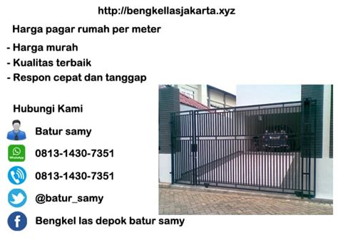 Per Meter Pagar Minimalis Harga Pagar Rumah Per Meter Harga Murah Di Jakarta