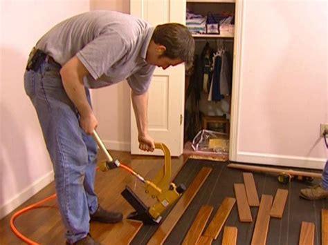 Installing Engineered Hardwood Flooring Nail Down Flooring Sw