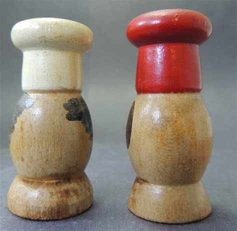 Handmade Salt And Pepper Shakers - handmade wooden salt and pepper shakers collectors weekly