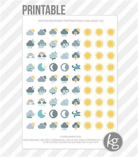 printable weather stickers weather assortment pdf printable planner stickers for by