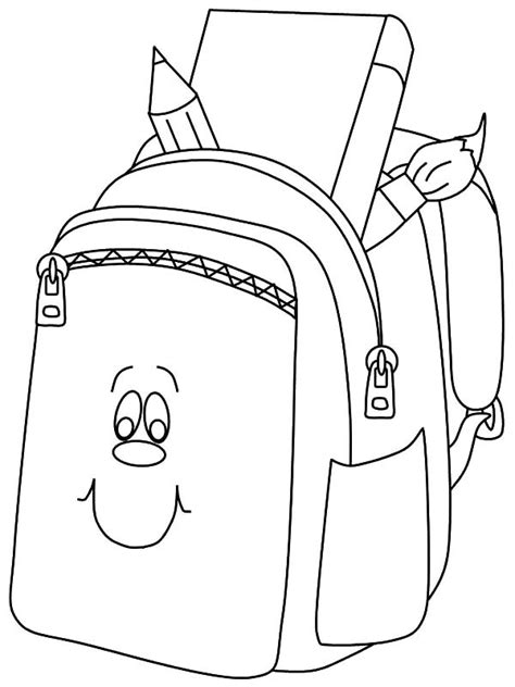 coloring page school bag free coloring pages of backpack backpack