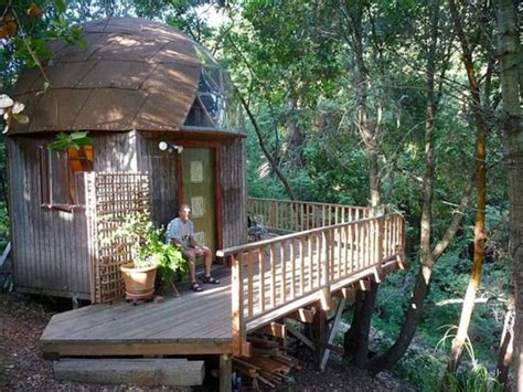 stay in the mushroom dome tiny house in aptos california tiny mushroom dome cabin