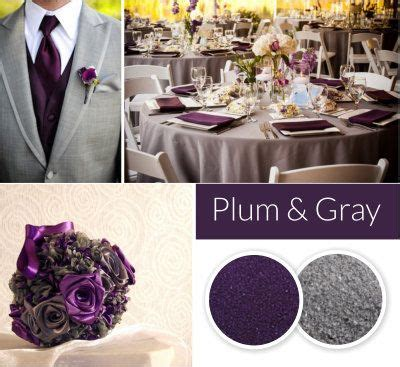 colour themes grey plum and gray wedding colors fall and winter wedding