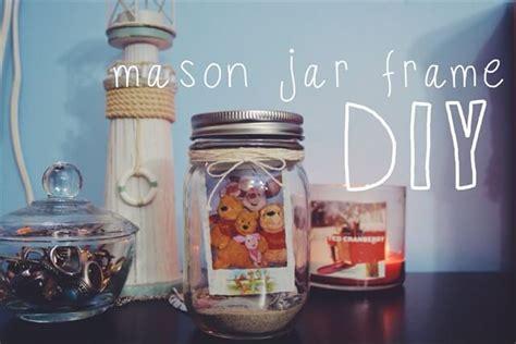 10 diy glass jar photo frames gift ideas diy to