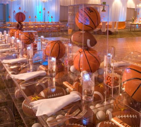 banquet party favors basketball bar mitzvah basketball theme ideas