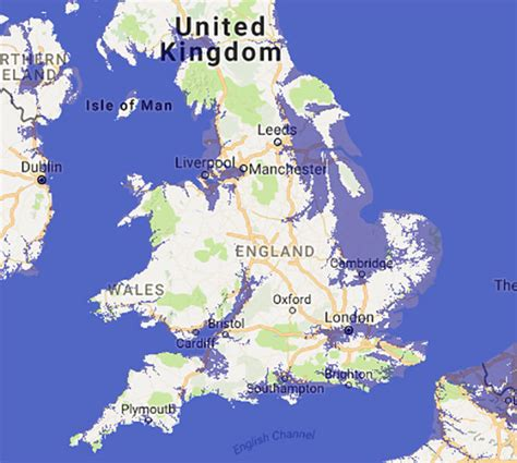 map uk global warming riskmap uk britain faces climate chaos and sinking into sea if