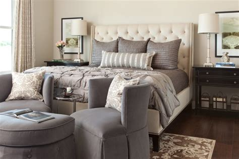 grey and brown bedroom big sky journal montana house heather scott home design