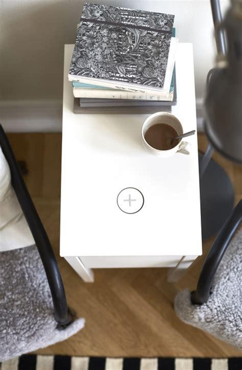ikea nightstand charging station ikea announces qi wireless charging furniture
