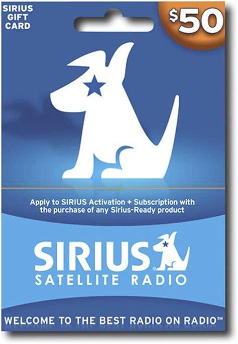 Sirius Gift Card - sirius 50 gift card for sirius satellite radio com sir best buy