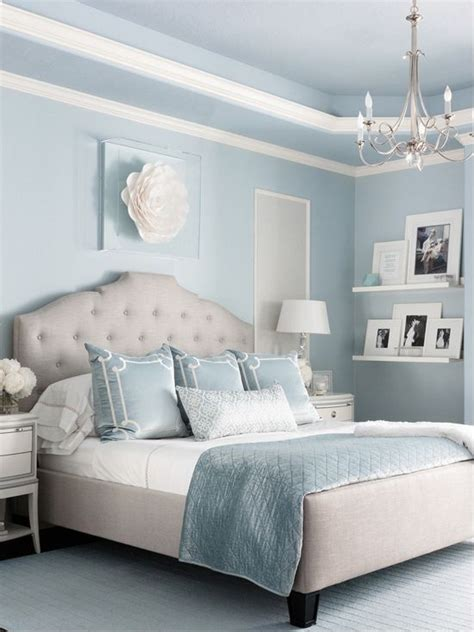 benjamin moore brittany blue bedroom interiors  color