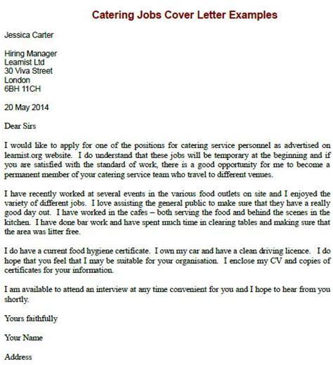 sample cover letter job application chef job