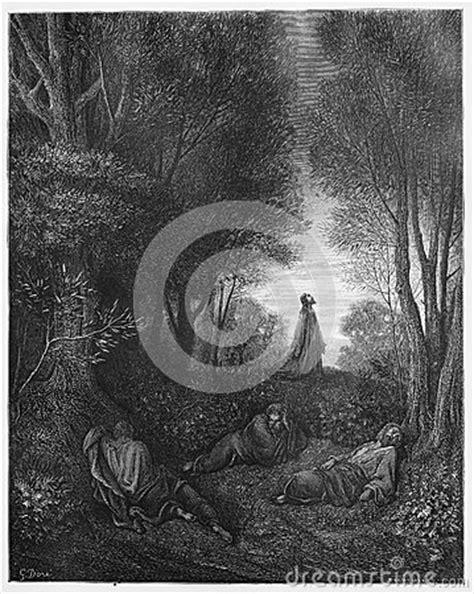 jesus praying   garden editorial image image