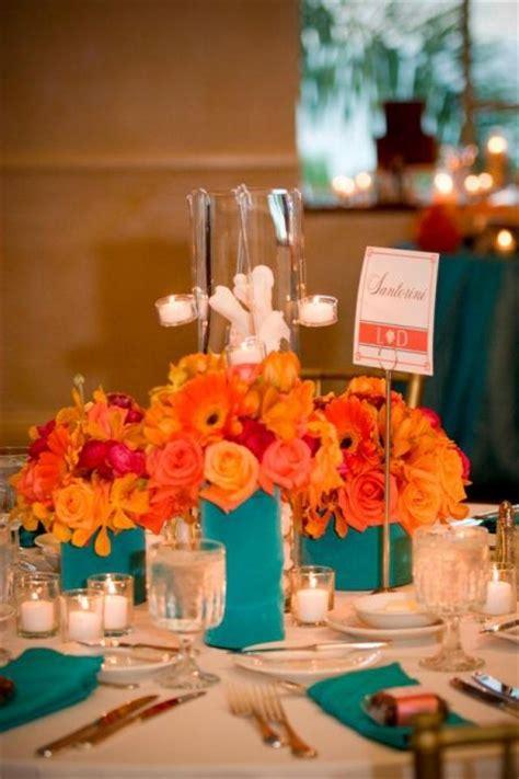 wedding  turquoise tangerine images
